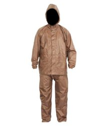 Brown PVC Rain Suit