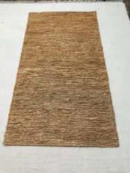 Rectangular Natural Hand Knotted Jute Sumak Rug, For Floor