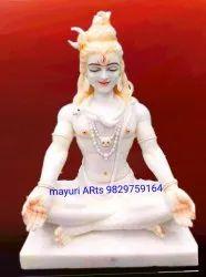 2 Feet Marble Sitting Lord Shiva Statue