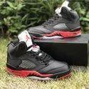 Men Black Nike Air Jordan 5 Satin Bred