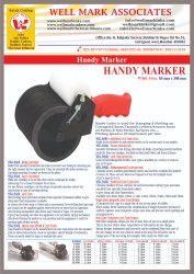 Cartoon Woven  Sacks Batch Coding Hand Marker Machine  Coder 85 x 300 mm