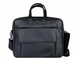 Leatherette Black Executive Laptop Bag, Capacity: 6 Liter
