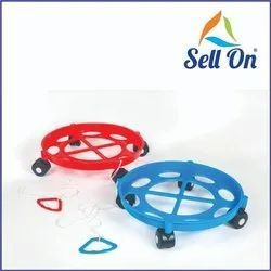 Movable Plastic LPG Cylinder Trolley