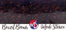 Polished Brazil Brown Granite Slab, For Flooring, Thickness: 15 mm