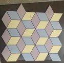 Bathroom Mosaic Vitrified Floor Tiles