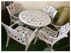Lohia International White Garden Rattan Dining Set