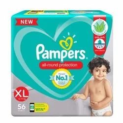 Pampers All round Protection Pants, Extra Large size baby diapers (XL) 56 Count