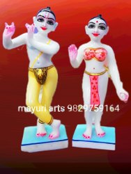 Iscon Radha Krishna Marble Statue