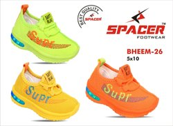 Party Wear Lace Up Kids Light Shoes, Size: 5-10