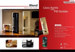 Water Bottle Glass Trophykart Blend - TGZ-801, Capacity: 360 ML, Size: 6.5 cm Dia X 21 cm