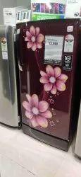 Red Glb201scy Single Door Lg Refrigerator, Model Name/Number: GL-B201ASCY, Capacity: 180L