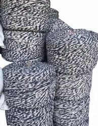 Navy Blue And White Poly Cotton Mop Yarn