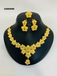 1 Gm Gold Plated Necklace Set