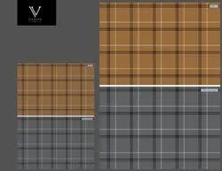Cotton 50 x 50 Heavy Twill Check Fabric, Check/stripes, Multicolour