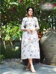Chanderi Viscose Printed Latest Women Fashion