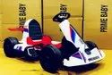 12V Dual Motor White Color Electric Rideon Gokart For Kids