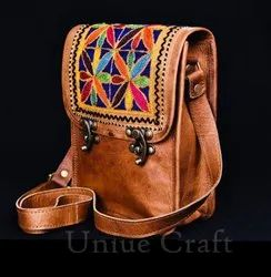 Uniue Craft Brown Ladies Sling Bag, For Casual Wear, Size: 9x7
