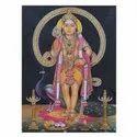 Lord Kartikay Tanjore Painting On Paper Sheet