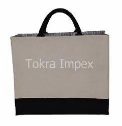 Natural Laminated Canvas Shopping Bag, Size: 34 X H 38 W X 15 Cm, Capacity: 15 Kgs