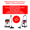 Household Vacuum Cleaner Powered By Double Stage Italian Motor