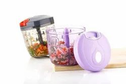 Handy Chopper XL 900 ml with 6 Blades and Whisker for Chopping Vegetables and Fruits (900ml)