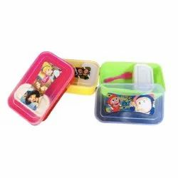 Maa Plast Plastic Lunch Box, For School, Size: 8 X 6 X 4 Inch (lxwxh)