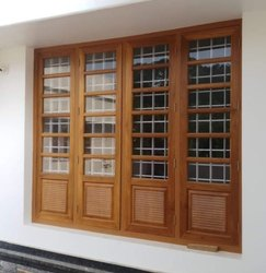Rectangular Brown Window Frame, Grade Of Material: First Quality