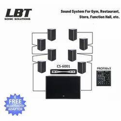 LBT Sonic Solution - Music System For Gym / Music System For Restaurant / Auditorium Sound System