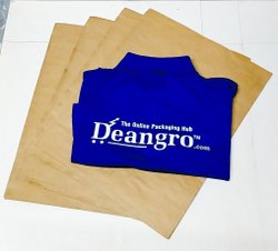 Brown Craft Paper Bag(15x19.5 Inch)LipLock, For Packaging, Capacity: 5kg