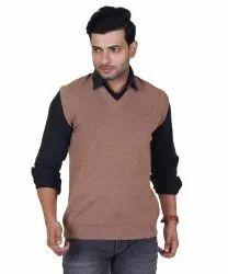 Mens Sleeveless Woolen Sweater