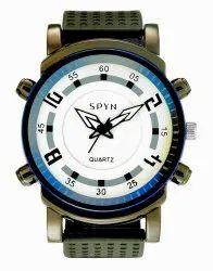 Black Spyn Arrow Biege Dial Sports Watch For Men Wrist Watch