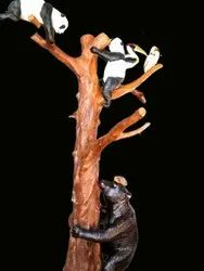 Brown FRP Moulded Artificial Tree Statue, For Decoration