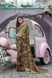 Casual wear fancy printed saree