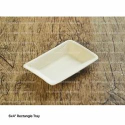 6 x 4 Inch Rectangular Areca Leaf Tray, For Event and Party Supplies