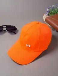 Polyester Orange Mens Fashion Caps, Size: Free Size