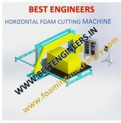 Horizontal Foam Cutting Machine Fully Automatic