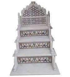 Printed White Marble Masjid Mimber