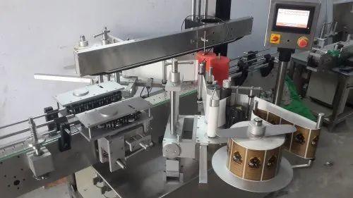 Automatic Twin Sides Labeling Machine