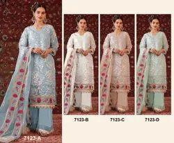 New Hit Designs Pakistani 7123 Designer Stylish Pakistani Suits