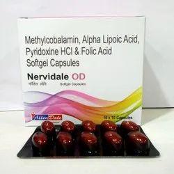 Methylcobalamin , Alpha Lipoic Acid, Pyridoxine Hcl & Folic Acid Softgel Capsules