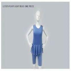Light Blue One Piece Swimsuit