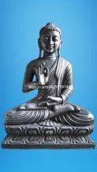 2 Feet Buddha Black Marble Statue