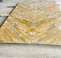 Brown Polished Alaska Yellow Granite, For Flooring, Thickness: 25 mm