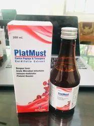 Platmust Carica Papaya & Tinospora Cordifolia Extract Syrup