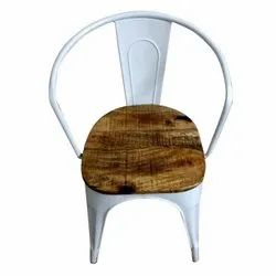 Modern White Tight Back Cafe Chair, 45 X 45 X 85