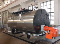 Oil & Gas Fired 2000 Kg/hr Fully Wetback Steam Boiler IBR Approved