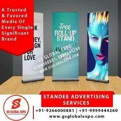 Mild Steel Banner Standee Advertising Services