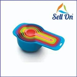 Plastic Multi-Purpose Measuring Spoon And Cup Set, 6-