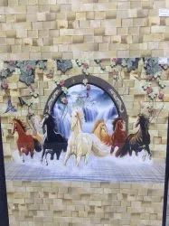 7 Running Horses Picture Tiles