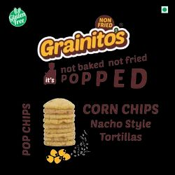 Popped Corn Chips Nachos Style Tortillas Nonfried